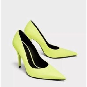 Zara new with tag neon court shoes
